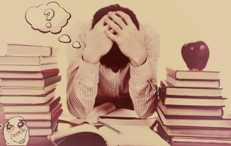 Студент в замешательстве